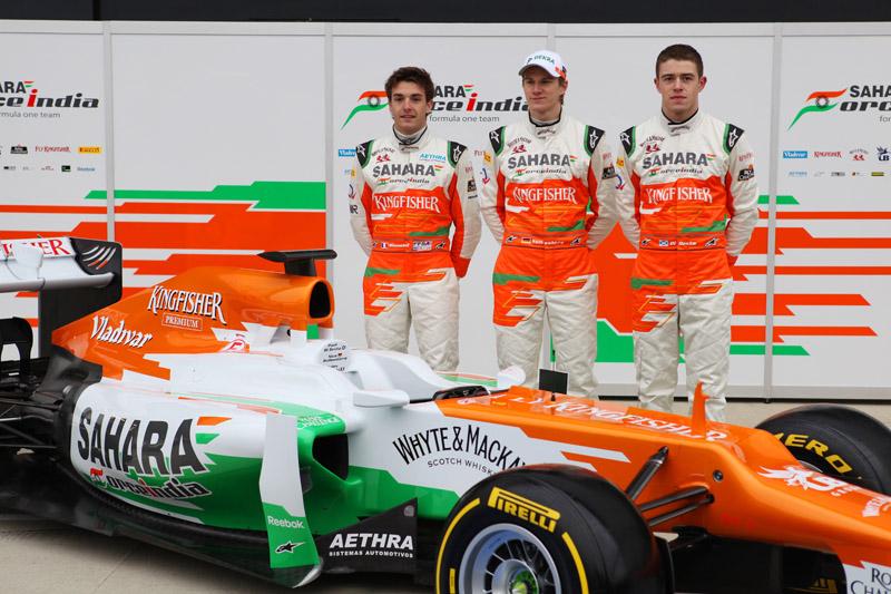 Apresentação do carro de 2012 da Force India