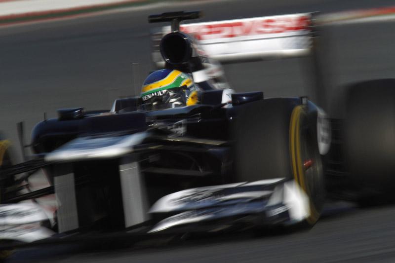 Bruno Senna durante teste em Barcelona