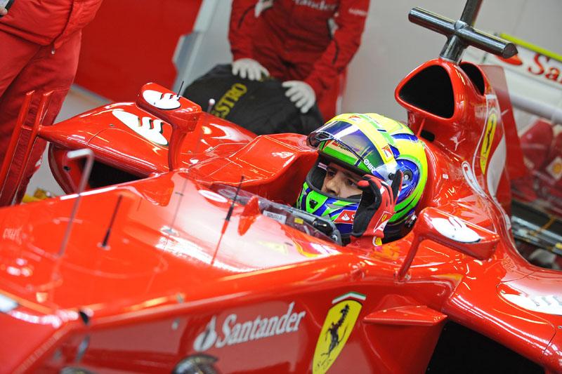 Massa durante teste em Barcelona