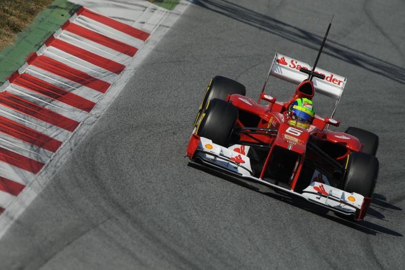 Felipe Massa durante teste em Barcelona na última semana