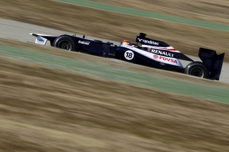 Maldonado chegou a liderar uma das sessões em Barcelona