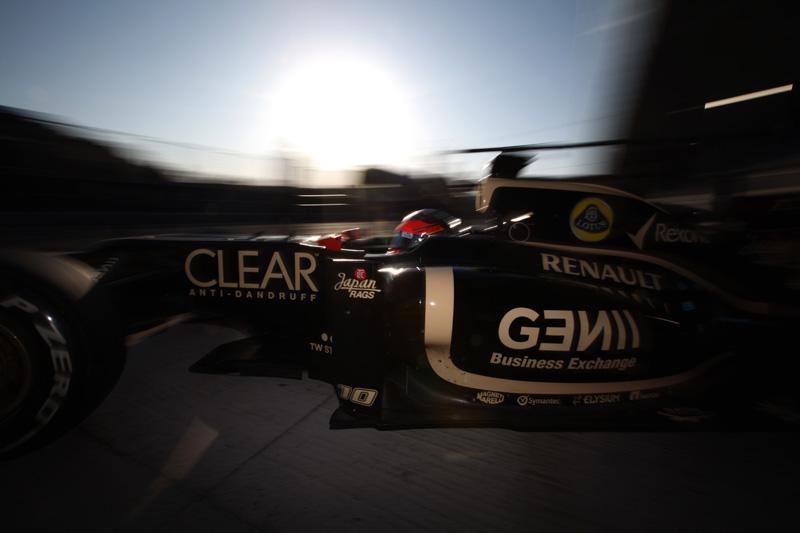 A Lotus terá mais quatro dias na pista para acertar o E20