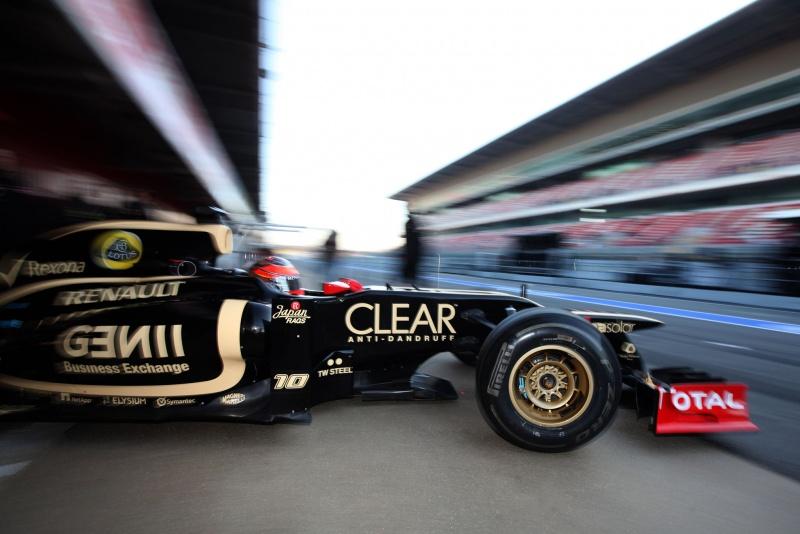 Romain Grosjean em ação em Barcelona