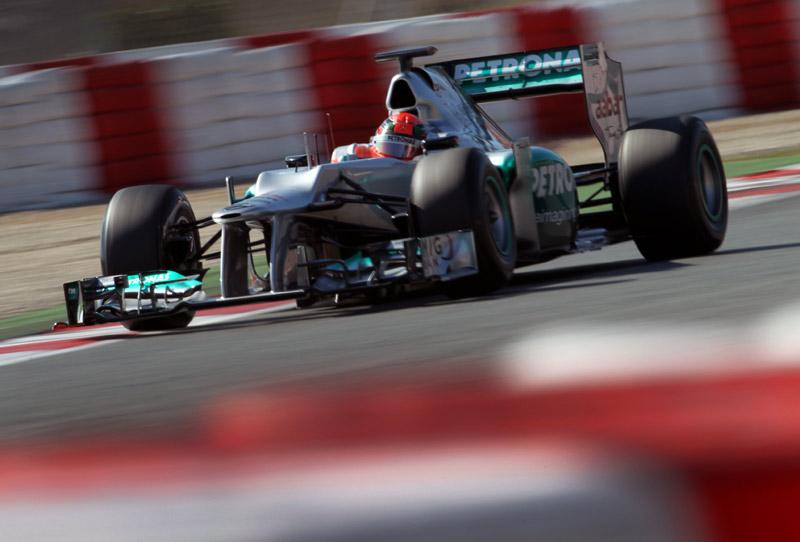 Michael Schumacher em ação