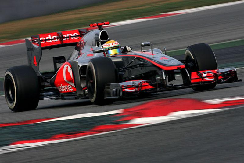 Lewis Hamilton em Barcelona