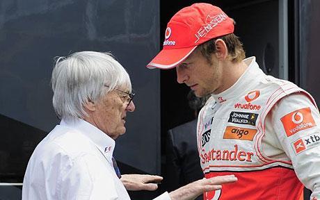 Ecclestone e Button