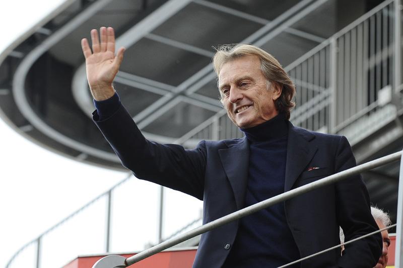 O presidente da Ferrari Luca di Montezemolo