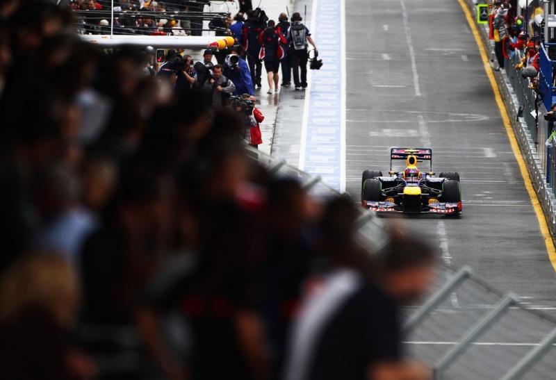 Chuva cortou o barato de Mark Webber