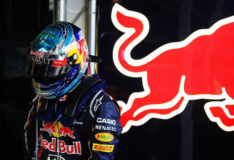 Vettel estava menos sorridente do que de costume
