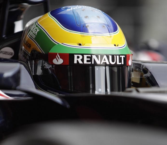 Senna penou com sua Williams em Melbourne