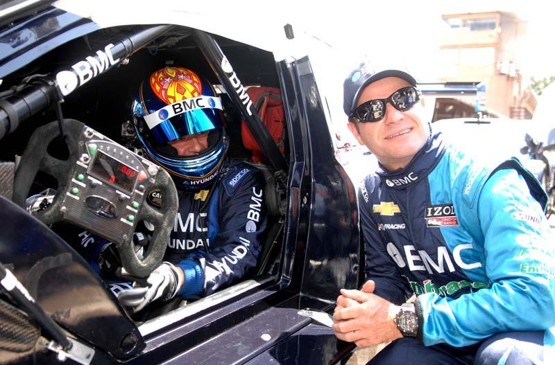 Tuka e Barrichello