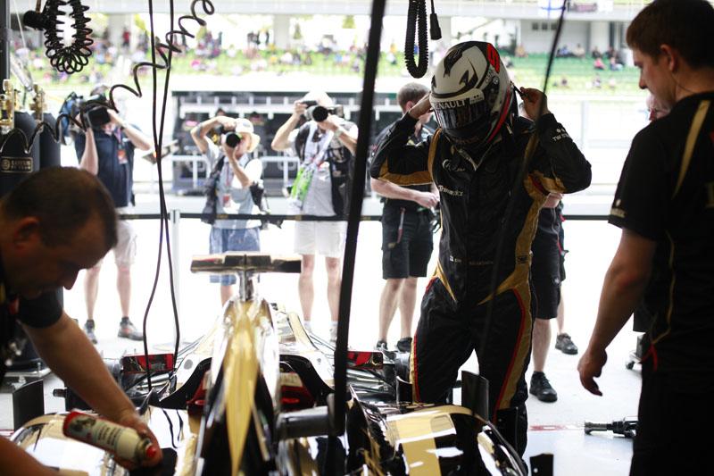 Raikkonen fez o mesmo tempo de Webber na classificação