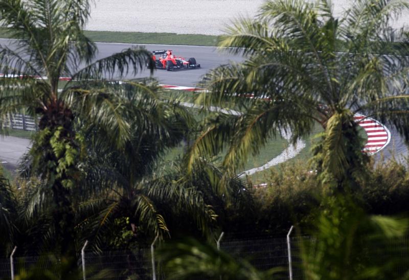 O fundão do grid para a etapa malaia