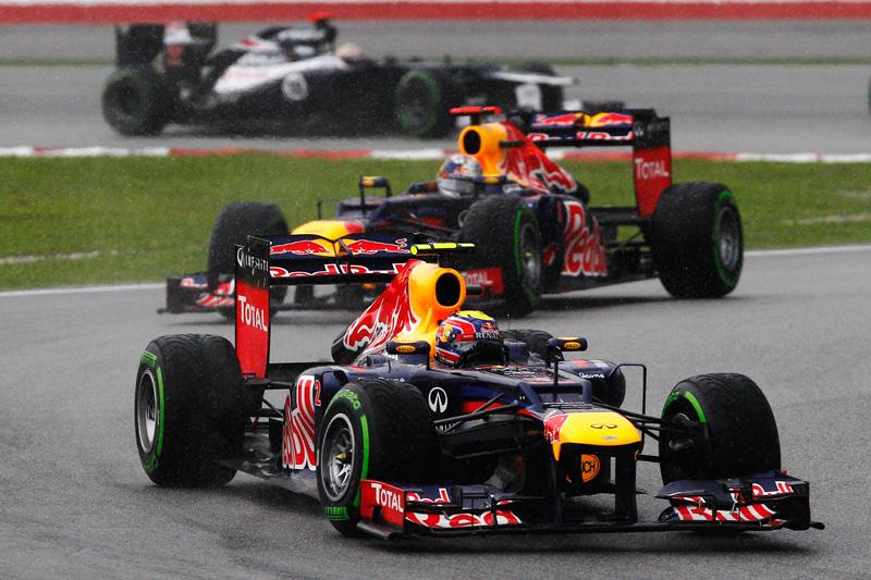 Pilotos da Red Bull andaram próximos por toda a prova