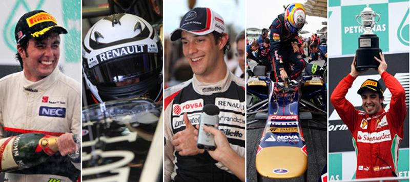 Quem foi o melhor em Sepang: Perez, Raikkonen, Senna, Vergne ou Alonso?
