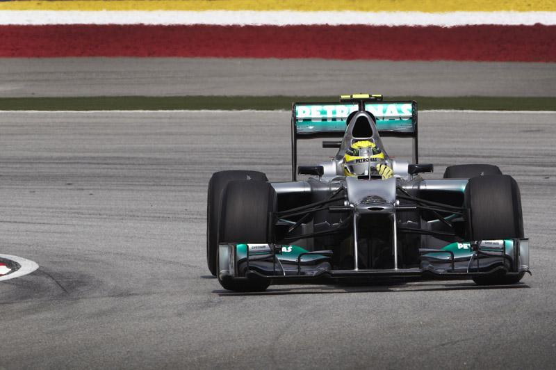 A Mercedes tem apenas um ponto no campeonato