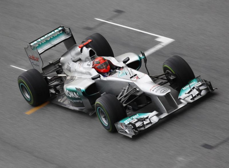 Schumacher fez o melhor tempo do dia