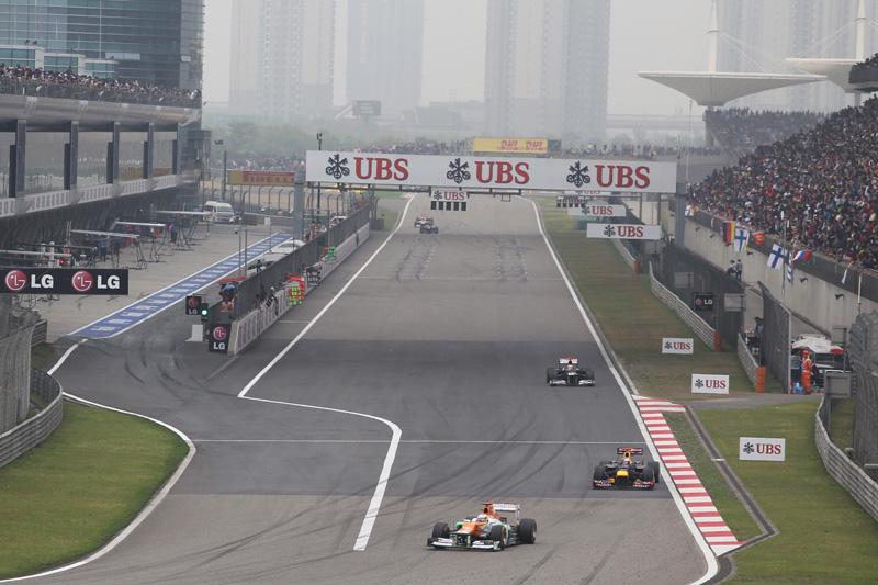 A Force India teve um domingo complicado