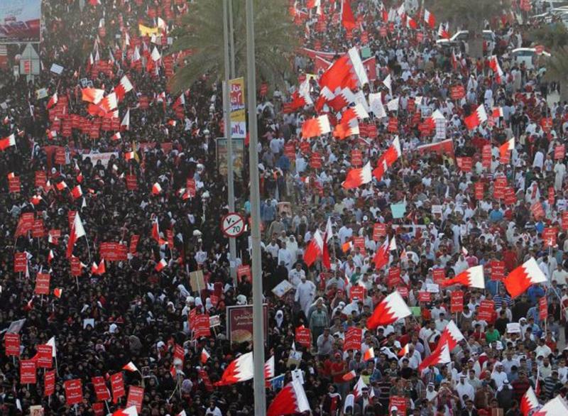 Marcha de manifestantes mês passado em Manama