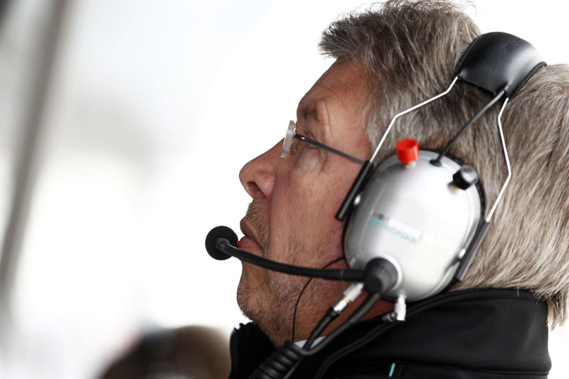 O chefe da Mercedes, Ross Brawn