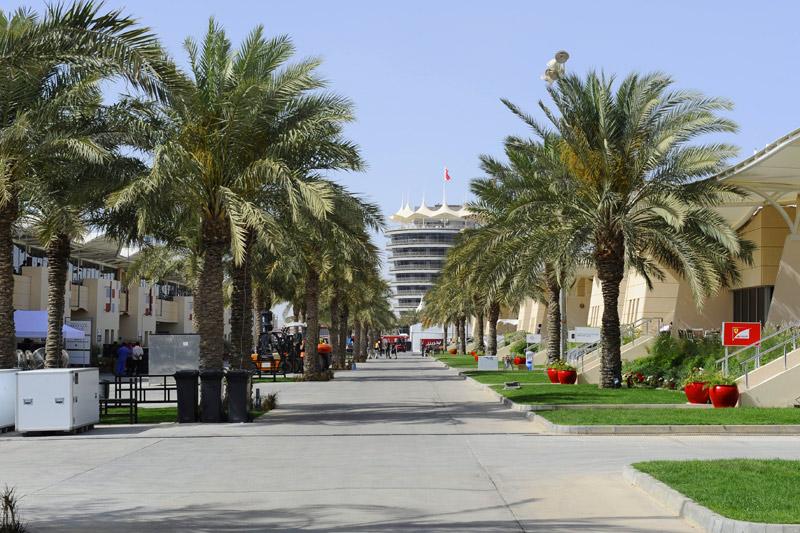 Paddock vazio do Bahrein