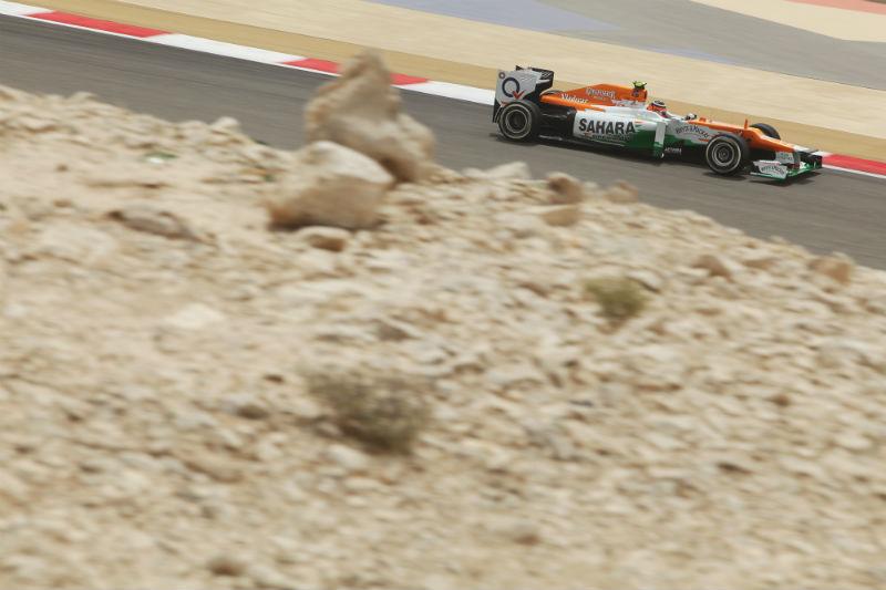 A Force India só foi à pista na primeira sessão de treinos livres
