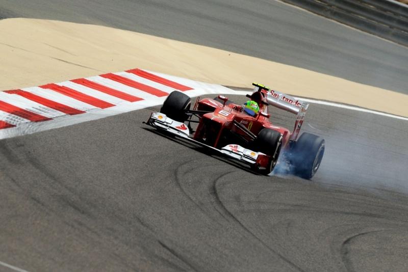 Massa trava pneus no Bahrein