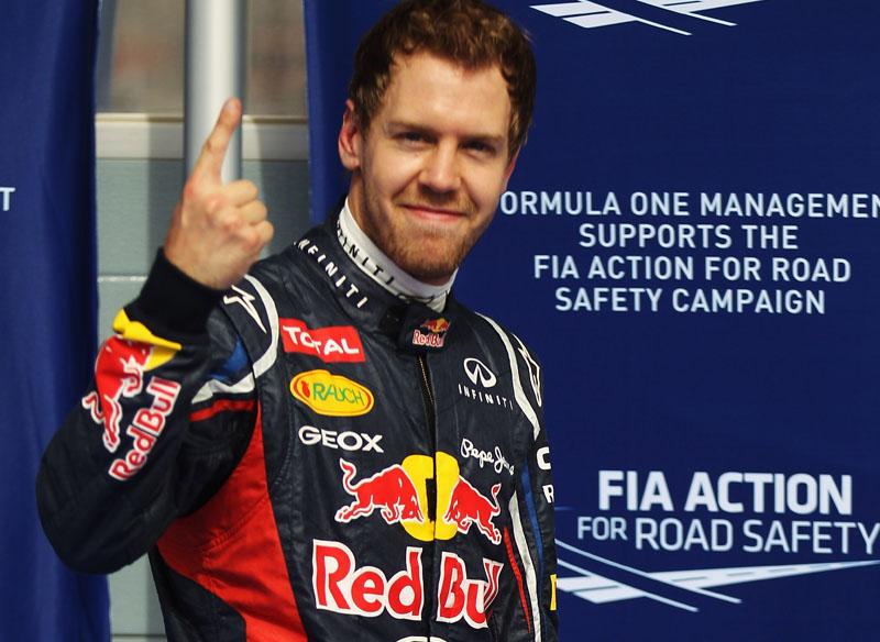 Vettel marcou sua primeira pole do ano