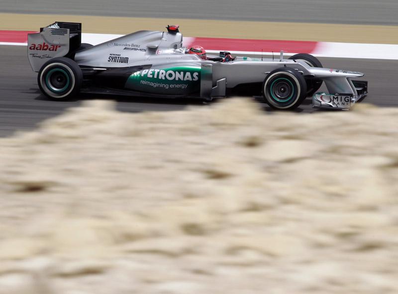 Os pneus da Mercedes aguentaram bem no calor barenita