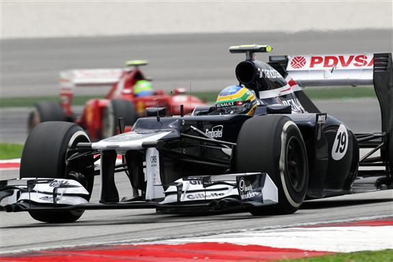 Senna e Massa na pista