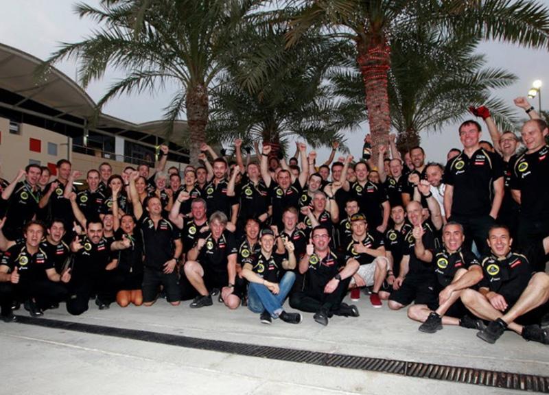 Lotus comemora seu pódio duplo, com Raikkonen e Grosjean