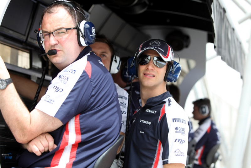Gillan junto com Senna no GP do Bahrein