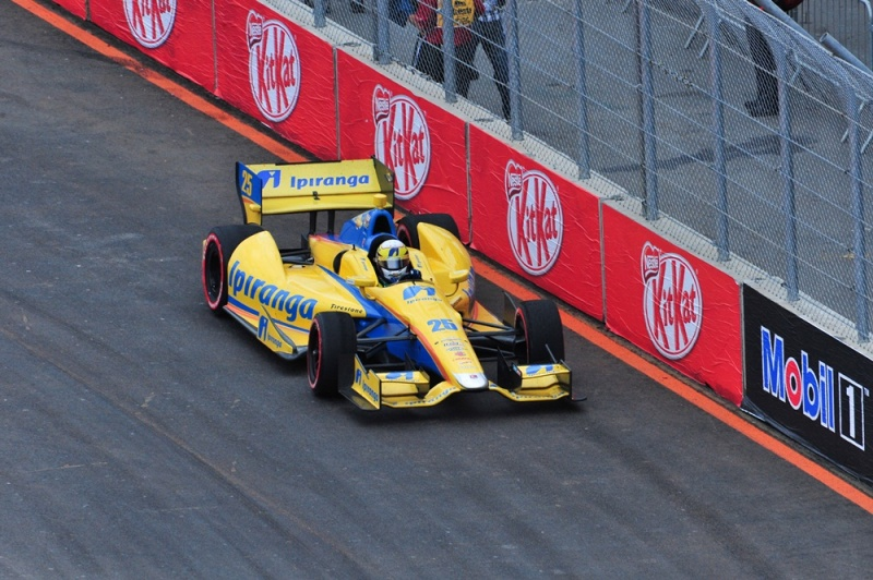 Bia durante a SP Indy 300