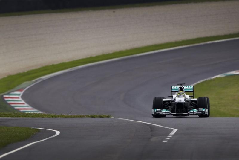 Rosberg conseguiu pegar a pista seca