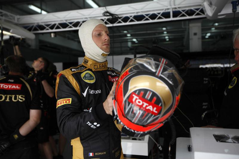 Grosjean foi o mais rápido pela manhã
