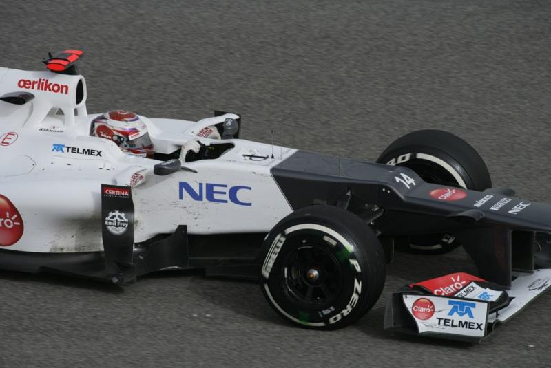 Kobayashi cravou a mesma marca que Grosjean