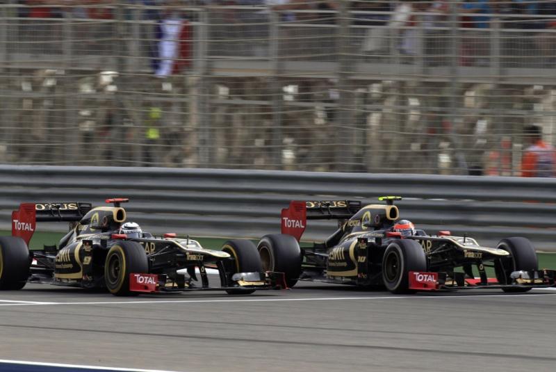 Lotus andou muito bem no Bahrein: pódio com os dois