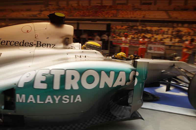 Rosberg se classificou à frente de Schumacher pela terceira vez no ano