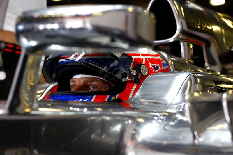 Jenson Button lutando com a McLaren