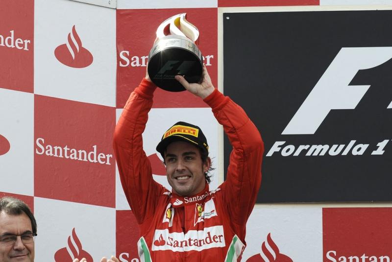 Alonso no pódio da Espanha