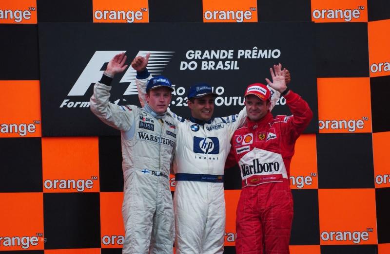 Pódio do GP Brasil de 2004: última vitória da Williams antes deste fim de semana
