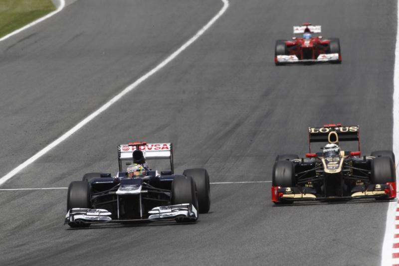 Williams andou de igual para igual com Ferrari e Lotus