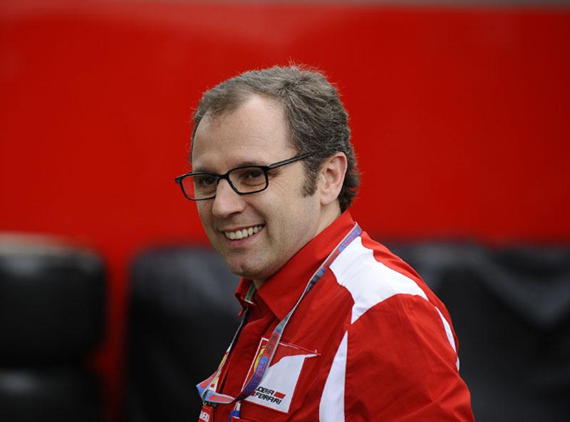 O chefe da Ferrari, Stefano Domenicali
