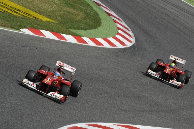 Massa vem tendo dificuldades para acompanhar Alonso