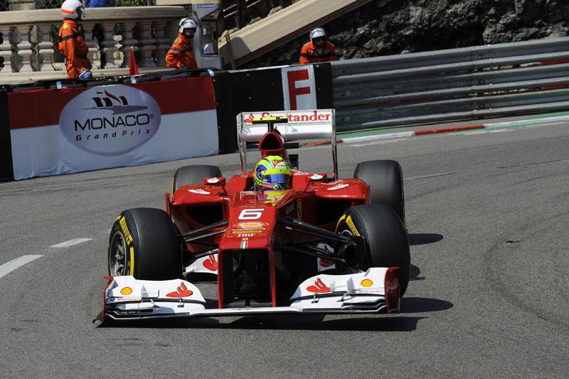 Massa larga em sétimo em Mônaco