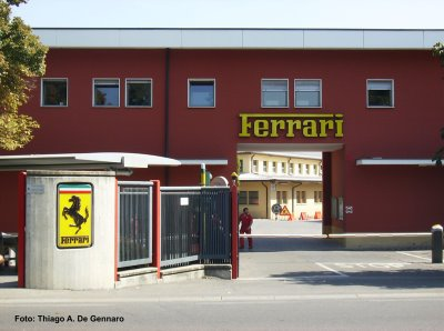 Fábrica da Ferrari, em Maranello