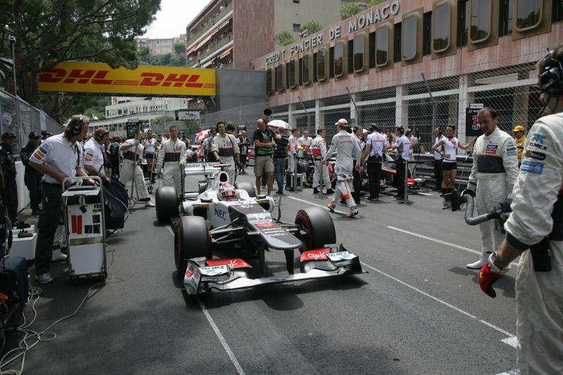 Kamui Kobayashi no grid em Mônaco