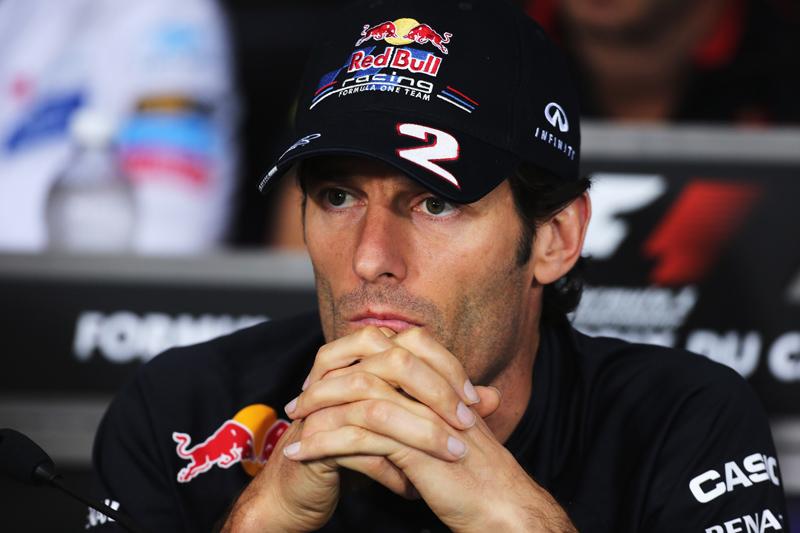 Webber está em terceiro lugar no campeonato