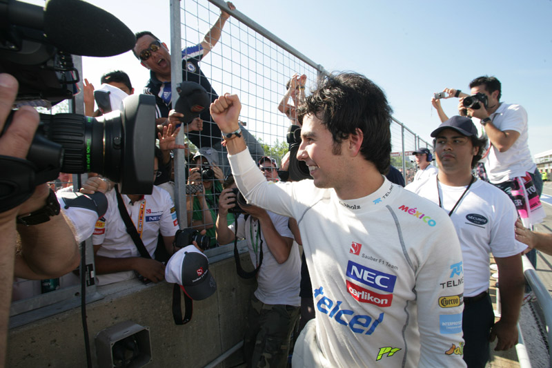 Perez conquistou seu segundo pódio da carreira