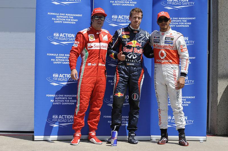 Alonso, Vettel e Hamilton